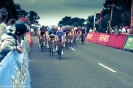 The women's bunch held together until the finish