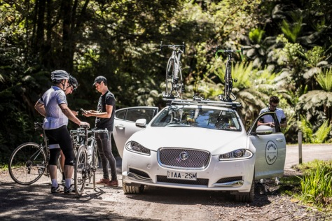 Jaguar sponsors rides with local boutique cycle tourism firm Soigneur. Photo by Beardy McBeard (http://beardymcbeard.com/)